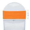 Stretch Spandex Bands Orange measurements