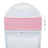 Spandex Chair Sashes Pink measurements