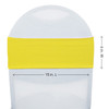 Spandex Chair Sashes Yellow measurements