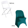 Stretch Spandex Folding Chair Cover Teal