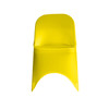Stretch Spandex Folding Chair Cover Yellow For Weddings