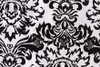 Damask Sash black and white
