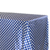 Satin Tablecloth Royal Blue/White Polka Dots