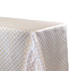 90 x 132 Inch Rectangular Satin Tablecloth Peach/White Polka Dots