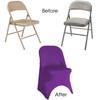 Stretch Spandex Folding Chair Cover Purple