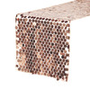 "14"" x 108"" Large Payette Sequin Table Runner Blush"