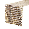 """14"""" x 108"""" Large Payette Sequin Table Runner Champagne"""
