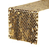 "14"" x 108"" Large Payette Sequin Table Runner Gold"