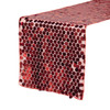 "14"" x 108"" Large Payette Sequin Table Runner Red"