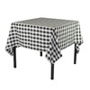 60 x 60 Inch Square Polyester Tablecloth Checkered Black