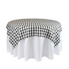 60 x 60  Inch Square Polyester Overlay Checkered Black