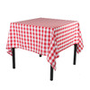 60 x 60 Inch Square Polyester Tablecloth Checkered Red