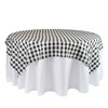 72 x 72 Inch Square Polyester Overlay Checkered Black