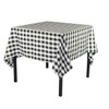 72 x 72 Inch Square Polyester Tablecloth Checkered Black
