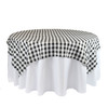 84  x 84 Inch Square Polyester Overlay Checkered Black