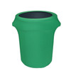 32 Gallon Spandex Trash Can/Waste Container Cover Emerald  Green