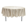 90 Inch Round Crinkle Taffeta Tablecloth Ivory