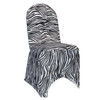 Stretch Spandex Banquet Chair Cover Black and White Zebra