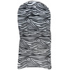 Stretch Spandex Banquet Chair Cover Black and White Zebra back view