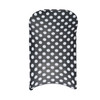 Stretch Spandex Folding Chair Covers Black and White Polka Dot  back view