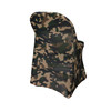 Stretch Spandex Folding Chair Cover Camouflage/Army  side view