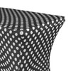 Stretch Spandex 4 ft Rectangular Table Cover Black and White Polka Dot