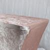 Velvet Spandex 6 Ft Rectangular Table Cover Blush