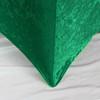 Velvet Spandex 6 Ft Rectangular Table Cover Emerald Green