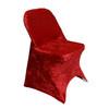 Velvet Spandex Folding Chair Cover Red