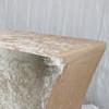 Velvet Spandex 8 Ft Rectangular Table Cover Champagne