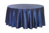 120 Inch Pintuck Taffeta Round Tablecloths Navy Blue