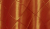 132 Inch Pintuck Taffeta Round Tablecloth Burnt Orange