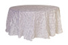 120 inch Pinwheel Pinched Taffeta Round Tablecloths White