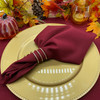 10 Pack 20 Inch Polyester Cloth Napkins Burgundy