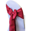 Dark Red Chair Sashes, Lamour Chair Sashes for Weddings