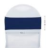 Spandex Chair Bands Navy Blue measurements