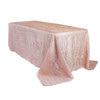 90 x 156 Inch Rectangular Crinkle Taffeta Tablecloth Blush