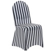 black and white striped chair covers