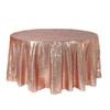 120 inch Round Glitz Sequin Tablecloth Blush