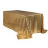 90 x 156 inch Rectangular Glitz Sequin Tablecloths Gold Main