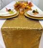 14 x 108 Inch Glitz Sequin Table Runner Gold