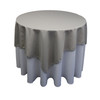 Square Polyester Tablecloth Gray