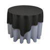 Square Polyester Tablecloth Black