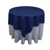 Square Polyester Tablecloth Navy Blue