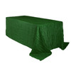 90 x 132 inch Rectangular Crinkle Taffeta Tablecloth Hunter Green