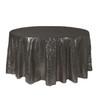 120 Inch Round Glitz Sequin Tablecloth Black