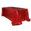 90 x 156 inch Rectangular Glitz Sequin Tablecloth Red