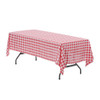 60 x 126 inch Rectangular Polyester Tablecloth Checkered Red