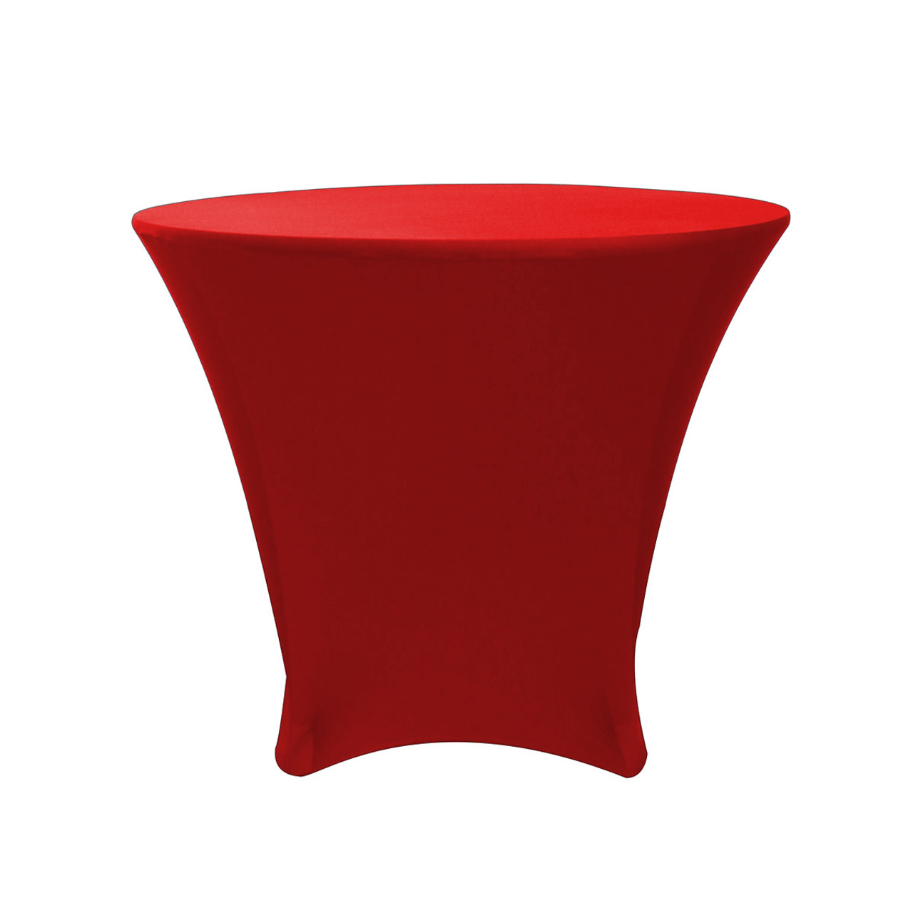 Bon 36 X 30 Inch Lowboy Cocktail Round Stretch Spandex Table Cover Red   Your  Chair Covers Inc.