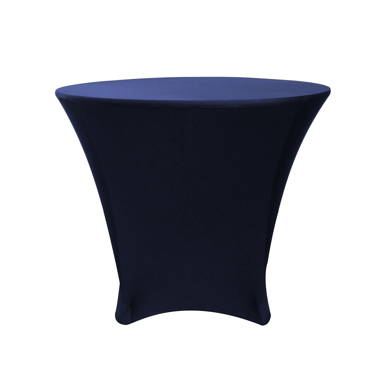 36 X 30 Inch Lowboy Cocktail Round Stretch Spandex Table Cover Navy